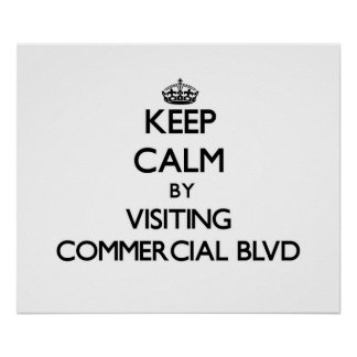 Keep calm by visiting Commercial Blvd Florida Posters