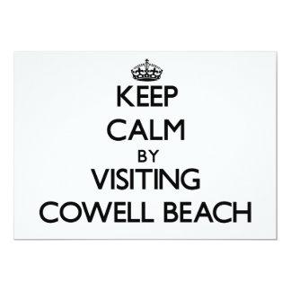 Keep calm by visiting Cowell Beach California 5x7 Paper Invitation Card