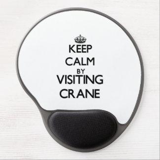 Keep calm by visiting Crane Massachusetts Gel Mouse Mat