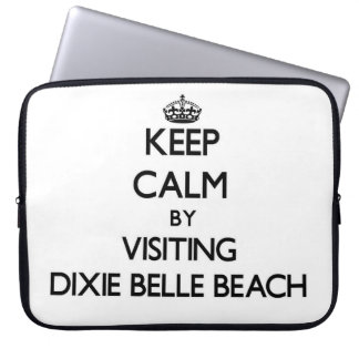 Keep calm by visiting Dixie Belle Beach Florida Laptop Computer Sleeve