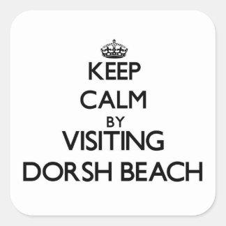 Keep calm by visiting Dorsh Beach Virgin Islands Square Sticker