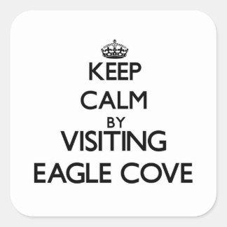Keep calm by visiting Eagle Cove Washington Sticker