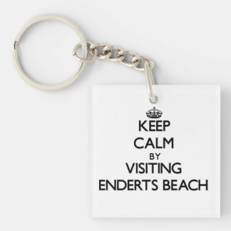 Keep calm by visiting Enderts Beach California Single-Sided Square Acrylic Keychain