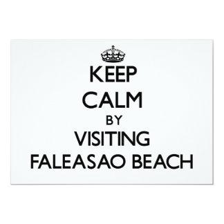 "Keep calm by visiting Faleasao Beach Samoa 5"" X 7"" Invitation Card"