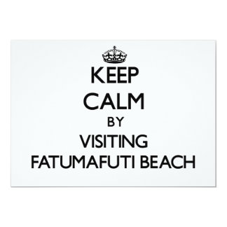 "Keep calm by visiting Fatumafuti Beach Samoa 5"" X 7"" Invitation Card"