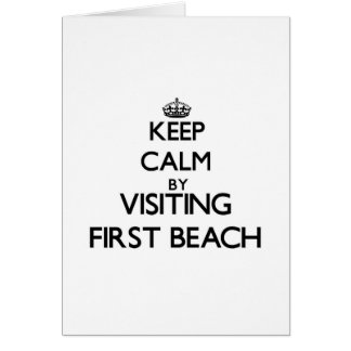 Keep calm by visiting First Beach Guam Cards