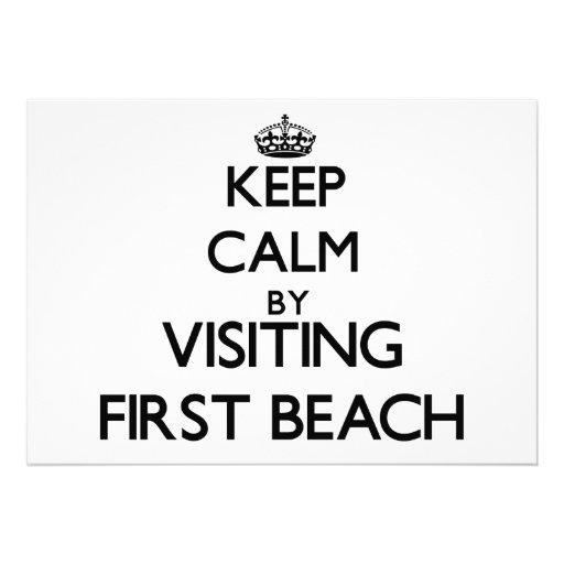 Keep calm by visiting First Beach Guam Custom Invitation