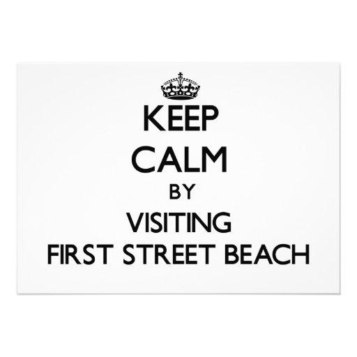Keep calm by visiting First Street Beach Michigan Invitations