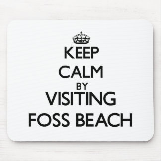 Keep calm by visiting Foss Beach New Hampshire Mouse Pads