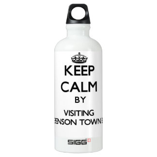 Keep calm by visiting Fred Benson Town Beach Rhode SIGG Traveler 0.6L Water Bottle
