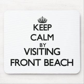Keep calm by visiting Front Beach Massachusetts Mousepads