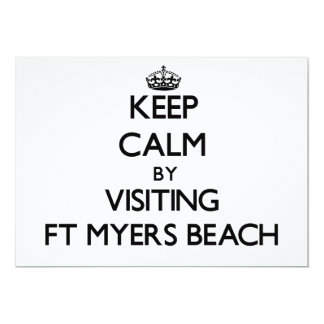 Keep calm by visiting Ft Myers Beach Florida 5x7 Paper Invitation Card