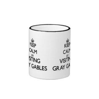 Keep calm by visiting Gray Gables Massachusetts Ringer Coffee Mug