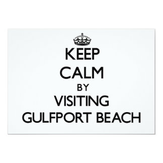 Keep calm by visiting Gulfport Beach Mississippi Invitation