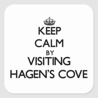 Keep calm by visiting Hagen S Cove Florida Square Sticker