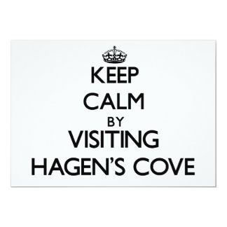 Keep calm by visiting Hagen'S Cove Florida 5x7 Paper Invitation Card
