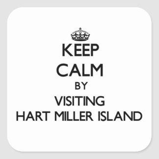 Keep calm by visiting Hart Miller Island Maryland Sticker