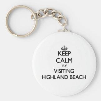 Keep calm by visiting Highland Beach Maryland Key Chains