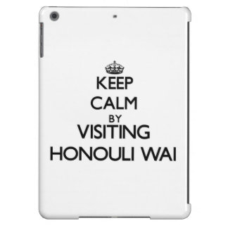 Keep calm by visiting Honouli Wai Hawaii iPad Air Covers