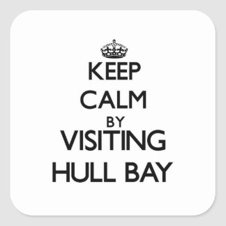 Keep calm by visiting Hull Bay Virgin Islands Square Sticker