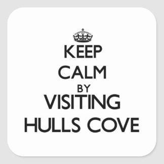 Keep calm by visiting Hulls Cove Maine Sticker