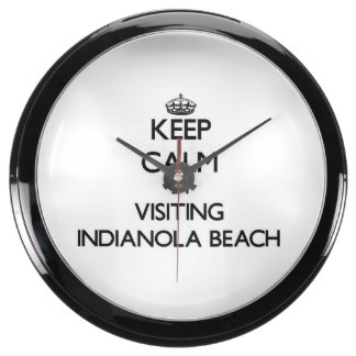 Keep calm by visiting Indianola Beach Texas Fish Tank Clock