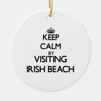 Keep calm by visiting Irish Beach California Ornaments