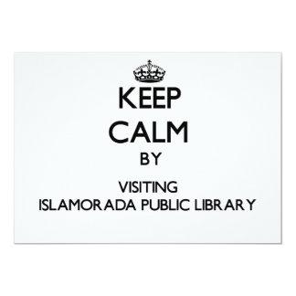 "Keep calm by visiting Islamorada Public Library Fl 5"" X 7"" Invitation Card"