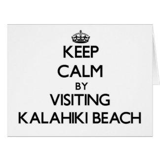 Keep calm by visiting Kalahiki Beach Hawaii Card