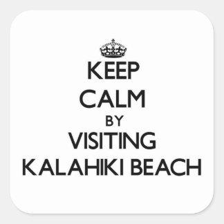 Keep calm by visiting Kalahiki Beach Hawaii Sticker