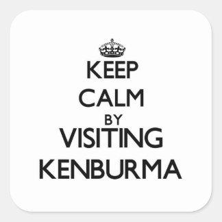 Keep calm by visiting Kenburma Massachusetts Square Sticker