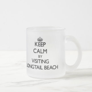 Keep calm by visiting Longtail Beach Wisconsin 10 Oz Frosted Glass Coffee Mug