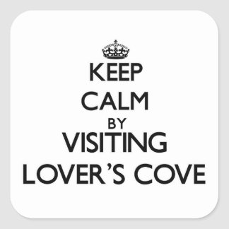 Keep calm by visiting Lover S Cove Washington Square Sticker