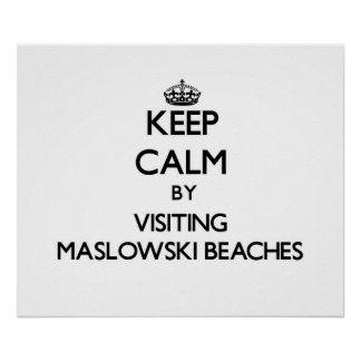 Keep calm by visiting Maslowski Beaches Wisconsin Poster
