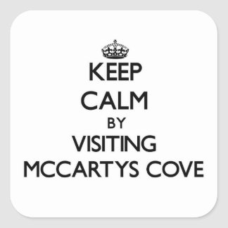 Keep calm by visiting Mccartys Cove Michigan Sticker
