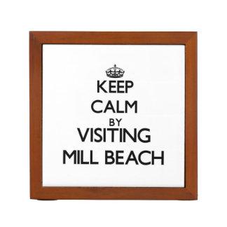 Keep calm by visiting Mill Beach Oregon Desk Organizer