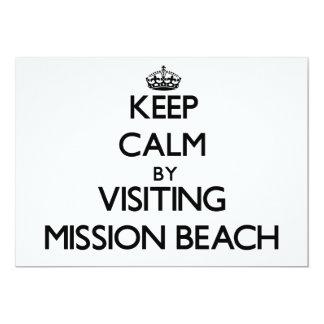 Keep calm by visiting Mission Beach California 5x7 Paper Invitation Card