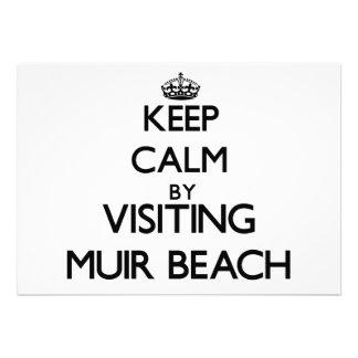 Keep calm by visiting Muir Beach California Card