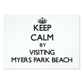 Keep calm by visiting Myers Park Beach Wisconsin 5x7 Paper Invitation Card