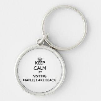 Keep calm by visiting Naples Lake Beach Florida Keychain