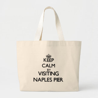 Keep calm by visiting Naples Pier Florida Canvas Bag