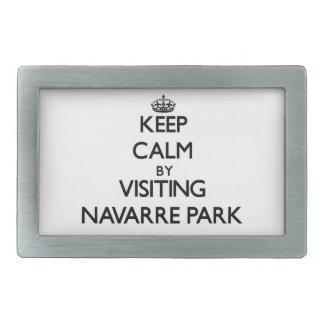 Keep calm by visiting Navarre Park Florida Rectangular Belt Buckles