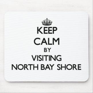 Keep calm by visiting North Bay Shore Michigan Mousepad