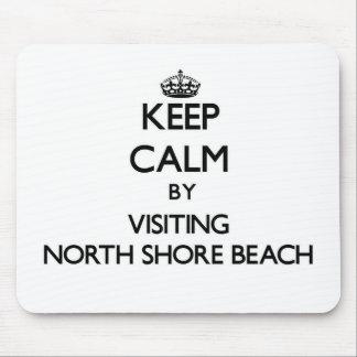 Keep calm by visiting North Shore Beach Florida Mousepad