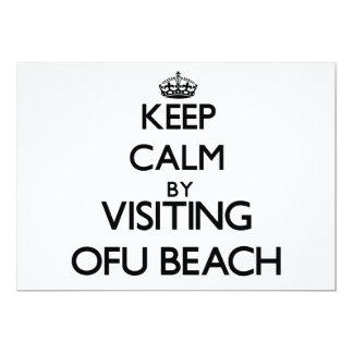 "Keep calm by visiting Ofu Beach Samoa 5"" X 7"" Invitation Card"