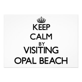 Keep calm by visiting Opal Beach Florida Personalized Invite