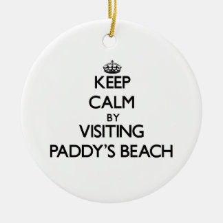 Keep calm by visiting Paddy'S Beach Rhode Island Ornaments