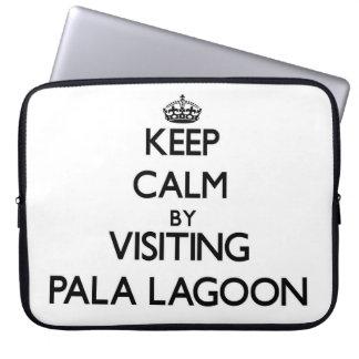 Keep calm by visiting Pala Lagoon Samoa Computer Sleeves