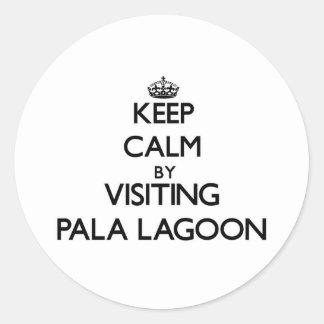Keep calm by visiting Pala Lagoon Samoa Stickers