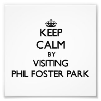 Keep calm by visiting Phil Foster Park Florida Photographic Print